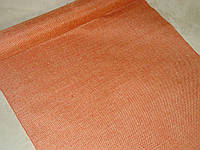 Декоративная ткань-мешковина оранжевая 90 см
