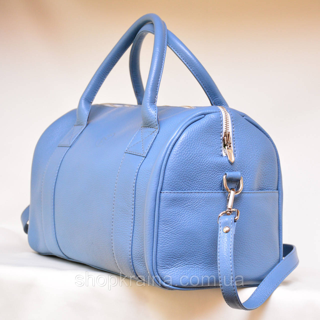 Кожаная сумка VS83  blue 33х21х19 см