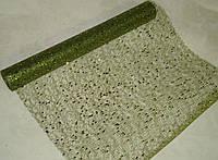 Декоративна сітка-павутинка зелена в блискітках 90 см