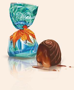 Конфеты «Николаевский Вальс» со вкусом апельсина (фабрика Альпи), фото 2