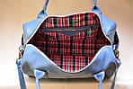 Кожаная сумка VS83  blue 33х21х19 см, фото 4