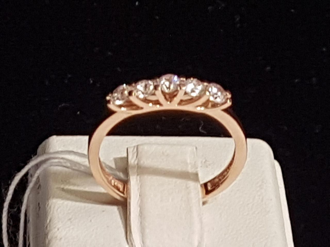 Золотое кольцо с фианитами. Артикул 140612 17