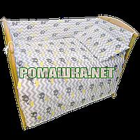 Защита (мягкие бортики, охранка, бампер) в детскую кроватку для новорожденного Слоники 3860