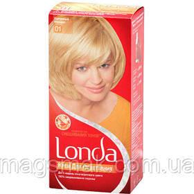 Крем-краска для волос LONDA 01 Солнечный Блондин