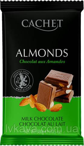 Молочный шоколад c миндалем Cachet  , 300 гр