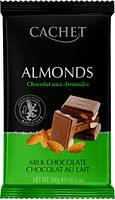 Молочный шоколад c миндалем Сachet  , 300 гр