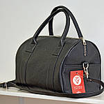 Кожаная сумка VS83  black 33х21х19 см, фото 5