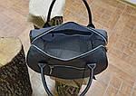 Кожаная сумка VS83  black 33х21х19 см, фото 7