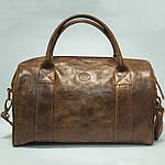 Кожаная сумка VS83  brown gold 33х21х19 см, фото 2