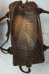 Кожаная сумка VS83  brown gold 33х21х19 см, фото 3