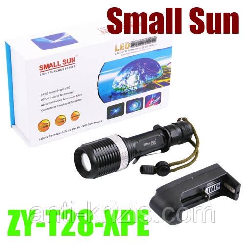 Фонарь Small Sun ZY-T28-XPE, zoom, ак.18650-гарантия!