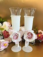 Свадебные бокалы Пионы