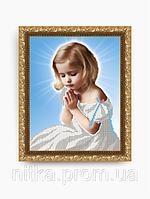 Вышивка молитва с девочкой