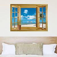 """Виниловый стикер, Интерьерная наклейка """"Окно в рай"""""""