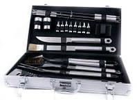 Набор инструментов из нержавеющей стали для барбекю 21 предмет в чемодане Fissman