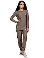 КОСТЮМ вязаный -туника и брюки, модный(МОККО)