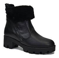Ботинки короткие зимние кожа 36-41