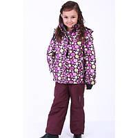 Детский зимний термо клмбинезон на мембране фиолетовый для девочки