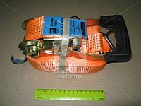 Стяжка груза, 3t. 50mm.x12m.(0.5+11.5) прорезин. ручка «ДК» 163907 (DK-3905) Код:141874264