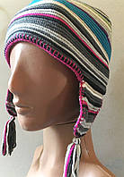 Яркая теплая шапочка на флисе 49-50 размер от C&A Германия, фото 1