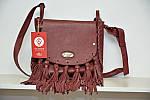Кожаная сумка VS86 terracotta 27х24х7 см, фото 2