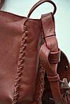Кожаная сумка VS86 terracotta 27х24х7 см, фото 3