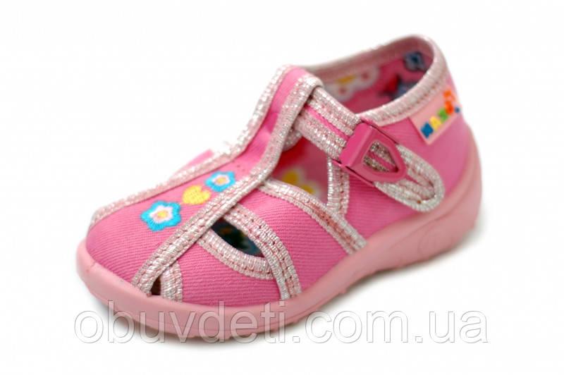 Тапочки-босоніжки для дівчинки Nazo 22-14,5 cm з шкіряними устілками