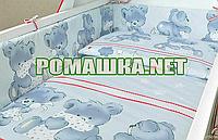 Защита (мягкие бортики, охранка, бампер) в детскую кроватку для новорожденного Подушки 3855 Унисекс, Серый, фото 1