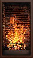 Настенный электро инфрокрасныйобогреватель картина «Камин» 100х57 см.