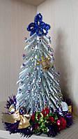 Новогодняя елочка из макарон - серебряная подарок на Новый год