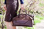 Кожаная сумка VS101 silver pink 38х20х18 см, фото 5