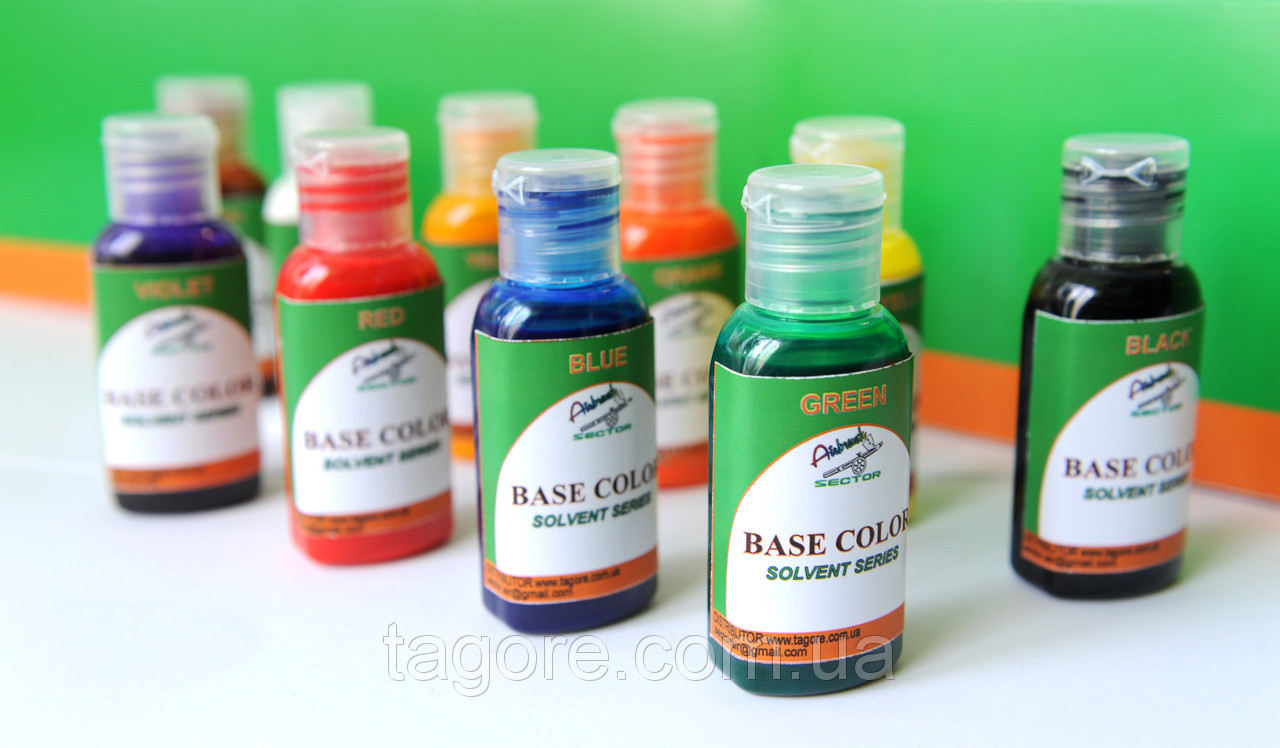 Base color  solvent series (набор 10 х 30 ml) 3701/30