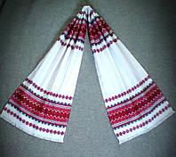 """Весільний тканий рушник з українським орнаментом """"Марічка"""" 140*33см"""