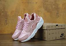 Кроссовки женские Найк Nike Air Huarache Run Premium Pink Glaze Pearl. ТОП Реплика ААА класса., фото 3