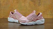Кроссовки женские Найк Nike Air Huarache Run Premium Pink Glaze Pearl. ТОП Реплика ААА класса., фото 2