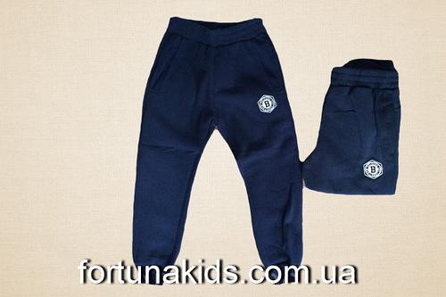Трикотажные спортивные брюки с начесом для мальчиков  S&D 116-146   р.р.