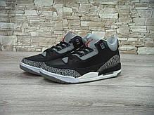 Кроссовки мужские баскетбольные Nike Air Jordan 3 Black Cement, фото 3
