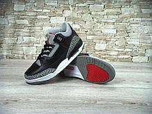 Кроссовки мужские баскетбольные Nike Air Jordan 3 Black Cement, фото 2
