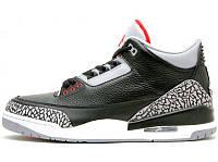 Кроссовки мужские баскетбольные Nike Air Jordan 3 Black Cement