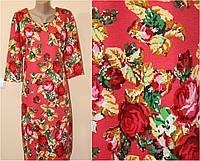 Трикотажное платье в стиле вышиванки