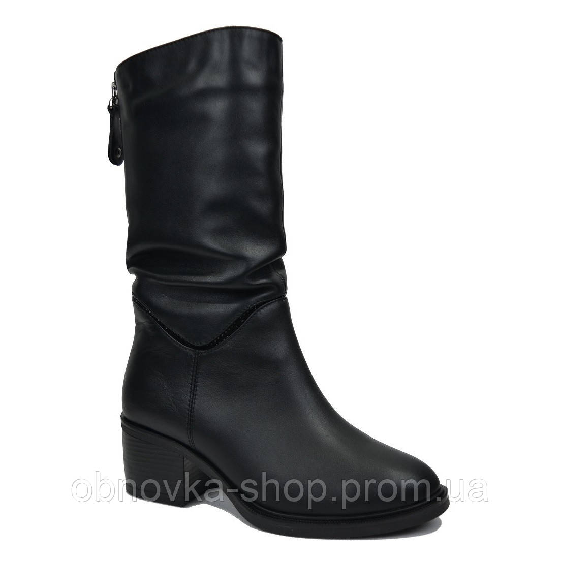 Короткие зимние сапоги на каблуке 36-41 - Интернет-магазин одежды и обуви в fdfbc79a234