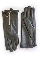 Сенсорные женские кожанные перчатки с утеплителем