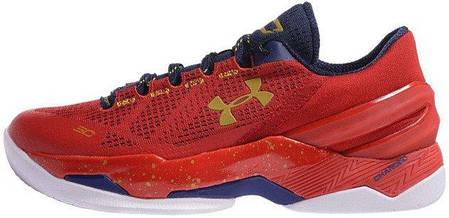 Кроссовки мужские баскетбольные Under Armour Curry 2 Red, фото 2