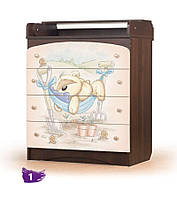"""Комод """"Мишка Фози"""" с пеленальным столиком для новорожденных (комод: пеленальный, детский, классический) ТМ Вальтер"""