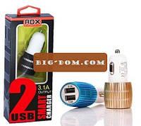 АЗУ 2USB RDX-112 3.1А для IPHONE 5/6G BLACK/SILVER