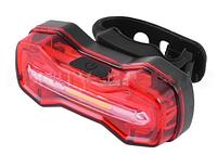 Фонарь велосипедный DMFL-526 (белый+красный+синий), аккум Li-ion, ЗУ micro USB, waterproof, индикация заряд LO