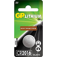 Батарейка литиевая GP Lithium cell CR2016 Напряжение 3V