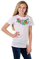 Детская футболка-вышиванка для девочки, 132-152 рост