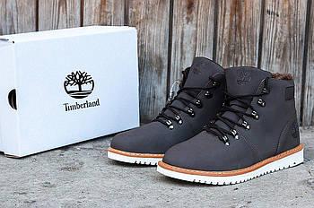 Зимние мужские ботинки TimberlandClassic 6 inch Grey Winter (Тимберленд) с мехом