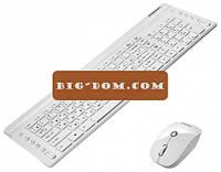 Клавиатура беспроводная с мышкой APPLE 2.4 англ. + русск. (радио)